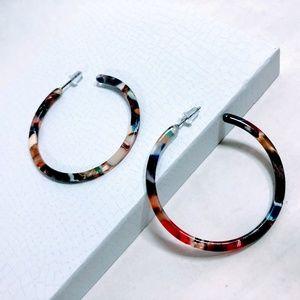 Jewelry - New - Acrylic Hoop Earrings - Multicolor